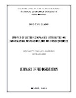 impact of listed companies' attributes on information disclosure level and its consequences