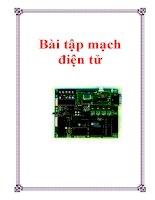 Bài tập môn mạch điện tử ngành điện tử viễn thông