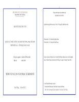 TÓM tắt LUẬN văn THẠC sĩ  KINH tế    QUẢN lý NHÀ nước NGÀNH THƯƠNG mại THÀNH PHỐ hội AN – TỈNH QUẢNG NAM