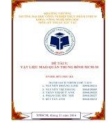 Đề tài Kỹ thuật xúc tác: Vật liệu mao quản trung bình MCM50