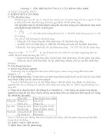 chương 7: TỐC ĐỘ PHẢN ỨNG VÀ CÂN BẰNG HÓA HỌC