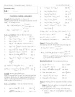 bài tập phương trình logarit ôn thi đại học
