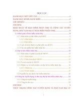 Thực trạng công tác tuyển dụng và đào tạo đại lý bảo hiểm nhân thọ tại công ty Bảo Việt Nhân thọ Hà Nam (giai đoạn 20092013)