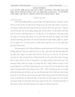 SKKN  KINH NGHIỆM XÂY DỰNG MỐI QUAN HỆ GIỮA HIỆU TRƯỞNG VỚI HỘI CHA MẸ HỌC SINH TRONG CÔNG TÁC XÃ HỘI HOÁ GIÁO DỤC Ở TRƯỜNG TIỂU HỌC