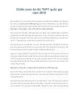 Chiến lược hướng dẫn ôn thi THPT quốc gia năm 2015