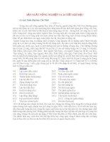 SẢN XUẤT NÔNG NGHIỆP VÀ 24 TIẾT KHÍ HẬU