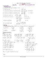 Đề cương ôn tập vào lớp 10 môn toán