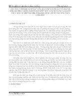SKKN tổ CHỨC CHO học SINH tập VIẾT bài làm văn đề tài về bảo vệ môi TRƯỜNG TRONG GIỜ ôn bài môn NGỮ văn để NÂNG CAO KIẾN THỨC bảo vệ môi TRƯỜNG CHO học SINH lớp 81 TRƯỜNG THCS lâm KIẾT