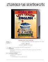 Bài soạn tiếng anh lets learn english book 2 lớp  4 HK1