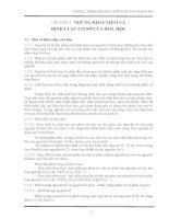 NHỮNG KHÁI NIỆM VÀ ĐỊNH LUẬT CƠ SỞ CỦA HOÁ HỌC