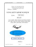 skkn lựa chọn  một số bài tập phát triển sức bền chuyên môn trong môn học chạy bền cho học sinh khối 7
