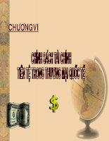 slide bài giảng kinh tế quốc tế chính sách tài chính tiền tệ trong thương mại quốc tế