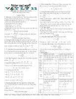 tóm tắt công thức vật lý hay tài liệu học vật lý lớp 11