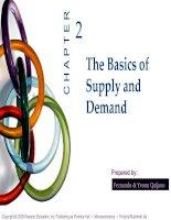 bài giảng kinh tế vi mô tiếng anh ch02 supply & demand