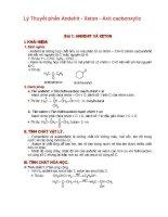 lý thuyết và giải bài tập phần andehit - xeton - axit cacbonxylic