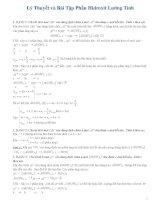 Lý thuyết và bài tập hóa học phần hidroxit lưỡng tính