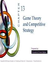 bài giảng kinh tế vi mô tiếng anh ch13 game theory