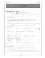 tài liệu học toán đại số và giải tích 11 chuơng 5 phần  đạo hàm