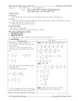 Giáo án dạy thêm toán 7 (phụ đạo học sinh yếu)
