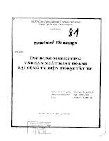 ĐỀ TÀI: Ứng dụng marketing vào sản xuất kinh doanh tại công ty điện thoại tay TP