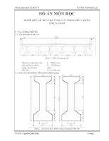 đồ án môn học  thiết kế cầu btct dự ứng lực theo tiêu chuẩn  22tcn-272-05