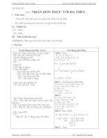 Giáo án dạy thêm toán lớp 8 năm 2014 (hs yếu)