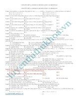 tổng hợp bài tập phần  andehit - xeton - axit cacbonxylic