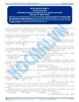 tổng hợp bài tập hóa học phần dung dịch  sự điện li
