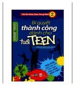 Sách bí quyết thành công cho tuổi teen có thể giúp bạn trẻ sống tốt hơn bản đầy đủ nhất