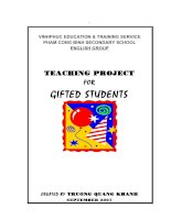 SKKN teaching project for gifted students