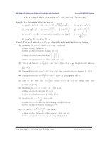 Bài tập về khảo sát hàm số  luyện thi đại học