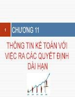 slide bài giảng môn kế toán quản trị 2  chương 11  thông tin kế toán với việc ra quyết định dài hạn