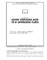 SKKN using teaching aids in a language class