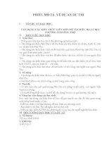 VẬN DỤNG CÁC KIẾN THỨC LIÊN MÔN ĐỂ TÌM HIỂU ĐỊA LÍ ĐỊA PHƯƠNG TỈNH PHÚ THỌ