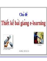Thiết kế bài giảng e learning