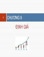 slide bài giảng môn kế toán quản trị 2 chương 9 Định giá
