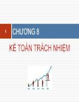 slide bài giảng môn kế toán quản trị 2 chương 8 Kế toán trách nhiệm