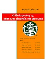 Tiểu luận chiến lược sản phẩm của Starbucks