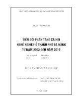 BIẾN ĐỔI PHÂN TẦNG XÃ HỘI NGHỀ NGHIỆP Ở THÀNH PHỐ ĐÀ NẴNGTỪ NĂM 2002 ĐẾN NĂM 2010