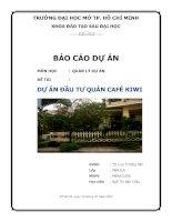dự án đầu tư quán cà phê kiwi - môn quản lý dự án chương trình mba