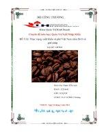 đề tài thực trạng xuất khẩu cà phê việt nam năm 2013 và giải pháp - luận văn, đồ án, đề tài tốt nghiệp