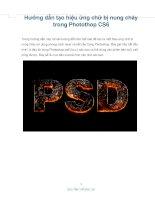 hướng dẫn tạo hiệu ứng chữ bị nung chảy trong photothop cs6
