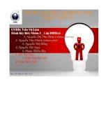bài thảo luận môn_ thiết bị may công nghiệp và bảo trì - luận văn, đồ án, đề tài tốt nghiệp