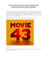 hướng dẫn tạo hiệu ứng chữ movie 3d trong photoshop cs6 extended