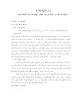 PHƯƠNG PHÁP  DẠY BÀI THỰC HÀNH SINH HỌC 7