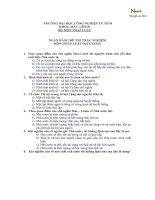 Ngân hàng đề thi trắc nghiệm pháp luật đại cương