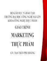 giáo trình marketing thực phẩm