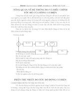 tổng quan về hệ thống đo lường và điều khiển tốc độ động cơ