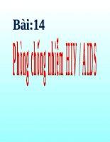 GDCD 8 bài 14 phòng chống nhiễm hiv aids