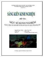 SKKN Một số kinh nghiệm trong công tác phối hợp với phụ huynh của giáo viên Mầm Non